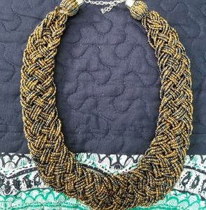 Braided twist beaded Necklace